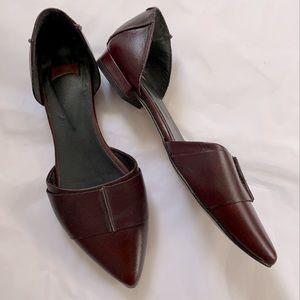 Bata Shoes 6 D'Orsay Flats Women Cognac Brown